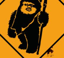 BEWARE EWOK XING Sticker