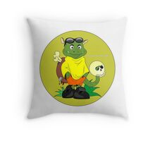 funny monster Throw Pillow
