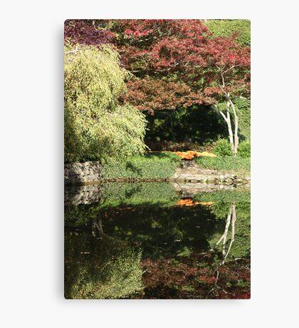 Butchart Gardens Reflections Canvas Print