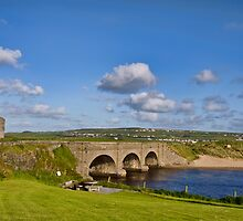 bridge over lahinch , golf course, county clare, ireland. famous irish tourist holiday attraction by upthebanner