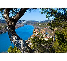 Looking through the natural window at Mt. Bonnell Photographic Print