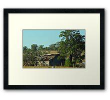 farm shed Framed Print