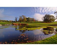 Golf pond at dromoland golf club, county clare, ireland Photographic Print
