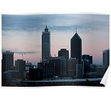 Perth City at Dusk From Kings Park Poster