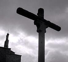 Cross in Avila, Spain by tandyphotoraphy