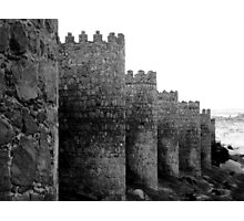 Ancient wall in Avila, Spain Photographic Print
