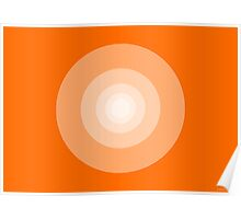 That's All Folks #Orange (abstract graphic art) Poster