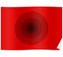 That's All Folks #Red (abstract graphic art) Poster