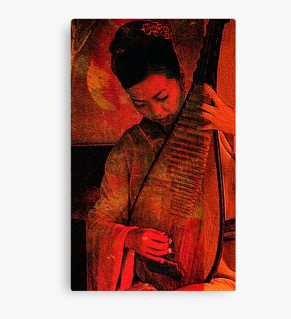 music to the sound of bleeding leaves.. Canvas Print