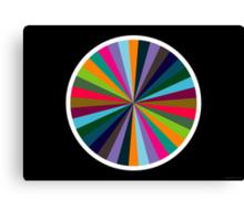 Exploding Plastic Rainbow #1 (abstract graphic art) Canvas Print