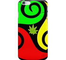 Reggae Love Vibes - Cool Weed Pot Reggae Rasta T-Shirt Stickers and Art Prints with Grunge Texture iPhone Case/Skin