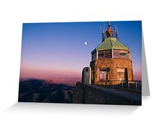 Mt. Diablo Lookout Tower at Twilight Greeting Card