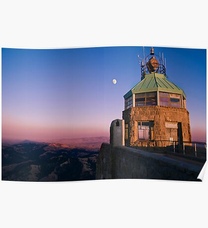 Mt. Diablo Lookout Tower at Twilight Poster