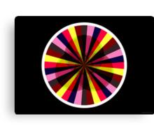 Exploding Plastic Rainbow #6 (abstract graphic art) Canvas Print