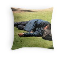 Afternoon nap at the park (2) Throw Pillow
