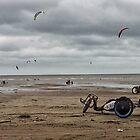 Kite Surfers by Hywel Edwards