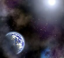 Space scenario with an Earth planet by 4Seasons