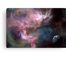 Earth in a nebula Canvas Print