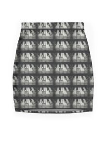 These Worn Tunes in Black and White Mini Skirt