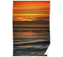 Dunnet Beach Sunset, Caithness, Scotland Poster