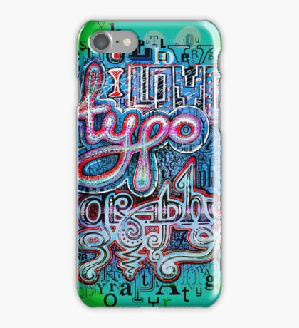 I Love Typography iPhone Case/Skin