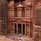 'The Treasury' in Petra, Jordan by Julie Waller