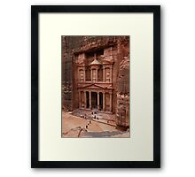 'The Treasury' in Petra, Jordan Framed Print