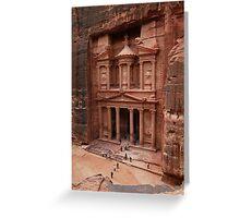 'The Treasury' in Petra, Jordan Greeting Card
