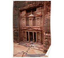 'The Treasury' in Petra, Jordan Poster