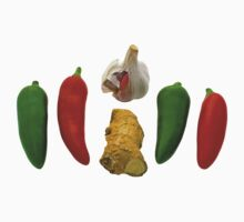 Chillies Garlic and Ginger One Piece - Short Sleeve