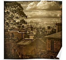 Fitzroy Rooftops Poster