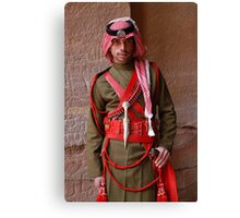 Guard at Petra, Jordan Canvas Print