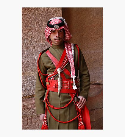 Guard at Petra, Jordan Photographic Print