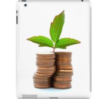 Copper Coins With Plant Growth iPad Case/Skin