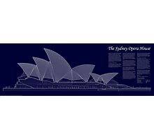 Sydney Opera House Architectural Drawing Photographic Print