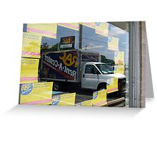 Advertising reflections Greeting Card