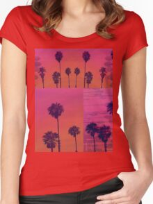 Santa Monica Palms Patch Women's Fitted Scoop T-Shirt