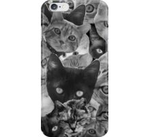 BW Cat Collage iPhone Case/Skin