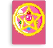 Pixel Sailor Moon Crystal Compact Canvas Print