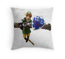 legend of zelda link snow figma Throw Pillow
