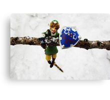 legend of zelda link snow figma Canvas Print