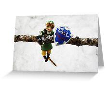 legend of zelda link snow figma Greeting Card