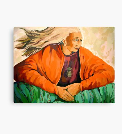 Power of Wisdom - oil painting Canvas Print