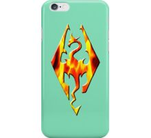 Skyrim Logo On Fire iPhone Case/Skin