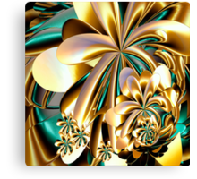Flowers made of gold Canvas Print