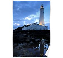 St Mary's Lighthouse - Whitley Bay Poster