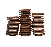 Chocolate Biscuits in Three Piles by MarkUK97