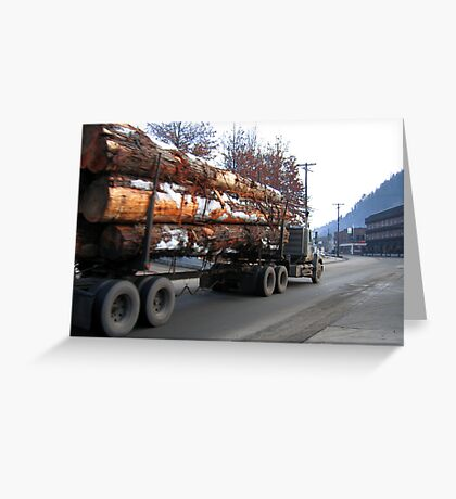 Americana • Timber 'jinker' truck, Orofino Idaho Greeting Card