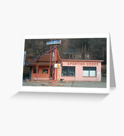 Americana • Orofino sporting goods store FOR RENT Greeting Card
