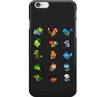 Pixel Pokemon Starters iPhone Case/Skin